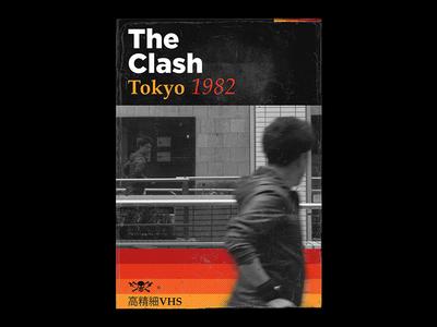 The Clash in Tokyo 1982 clash royale strummer joe vintage retro vhs poster music japan tokyo diy art rock punk clash