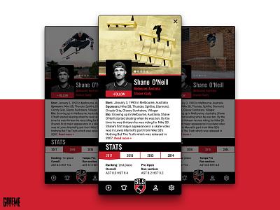 Daily Ui Challenge - User Profile daily ui stats skateboard app nike competition league street skateboarding skate illustrator photoshop sketch figma profile uichallenge ux ui dailyui