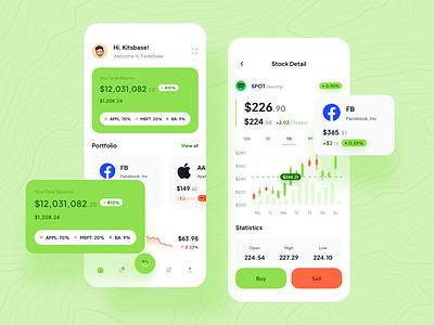 Tradebase - Stock App mobile ios stock money analytic mobile app uikit ui8 fintech finance chart ux ui app