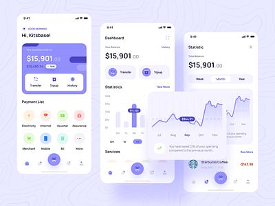 Paybase - Payment App payment stocks finance app financial app investment fintech app mobile wallet fintech finance chart ux ui app