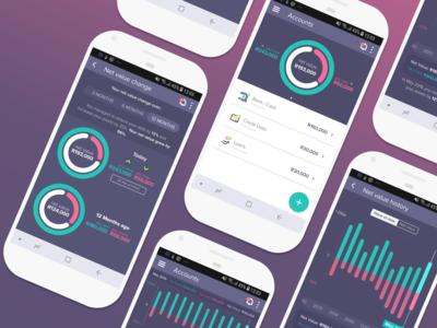 Net Value Doughnut for 22seven graph design user interface design user experience prototype uidesign finance app fintech app design product design user experience