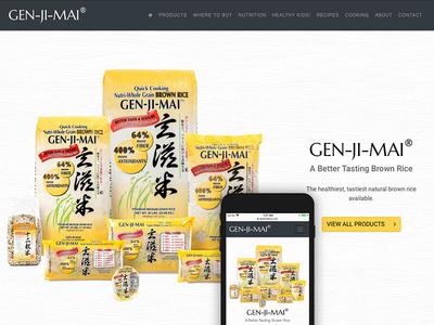Gen Ji Mai Website Live brown rice svg website responsive mobile first