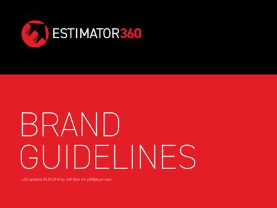 Rebuilding A Brand guide style brand logo