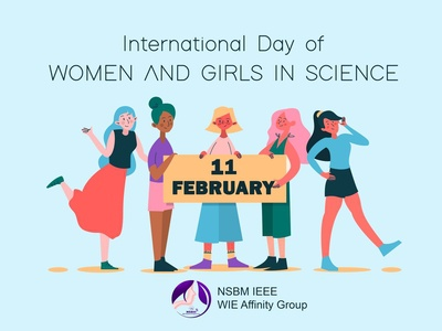 International day of women and girls in science poster