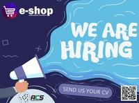 e shop Volunteer poster