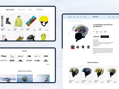 Winter Sports. Website design concept Part 2