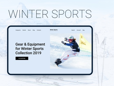 Winter Sports. Website design concept Part 1