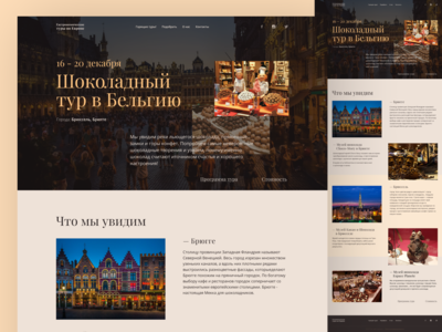 Website design. Landing page