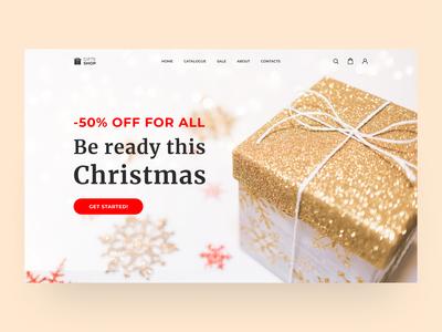 Website design. Shop of Christmas gifts