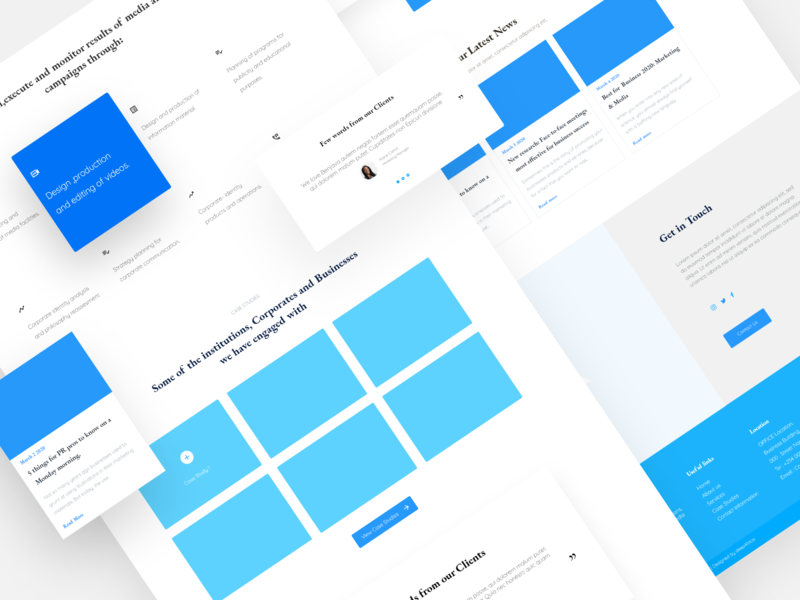Benjava Communication & PR Firm - Wireframe