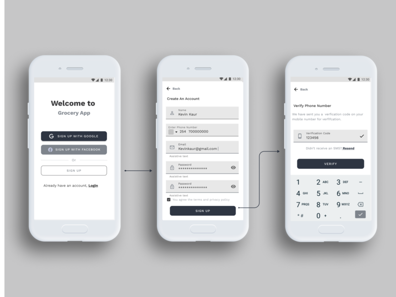 Login|Sign Up Flow minimal userflow uxui app wireframe uxdesign ux brand typography clean design