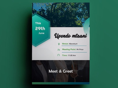 Flyer design -Upendo Mtaani  Meet  Greet Edition