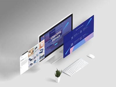 UI design for a Portfolio website