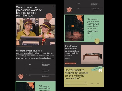 Welcome to the Jungle. flat web design uidesign landing page design typography design vector ui ui design web