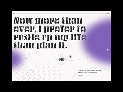 Rustle Up My Life. typography uidesign vector illustration web design landing page design ui design ui design web