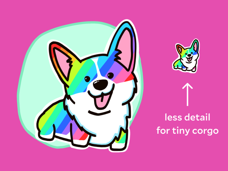 Corgi Pal emoji corgi procreate illustration