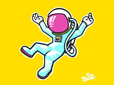 Astronaut space astronaut procreate illustration