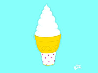 Ice Cream food ice cream procreate illustration