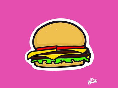 Smashburger burger procreate illustration food