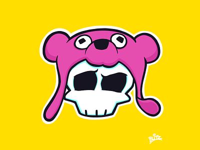 Cuddlier Than I Look procreate illustration bear skull