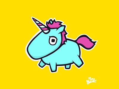 Unicorn procreate illustration unicorn