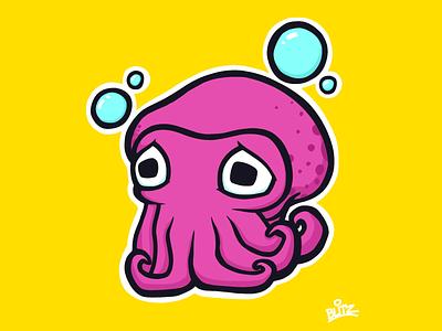 Cuttlefish color cartoon art drawing animal cuttlefish procreate illustration