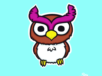 Owl bird animal owl timelapse drawing art procreate illustration