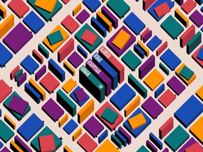City of Books 📚 tbilisi books book brand identity branding architecture city animation motion graphics