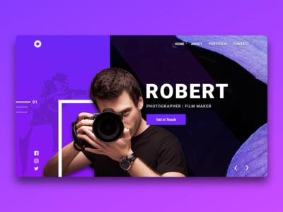 Photographer Portfolio Website Design