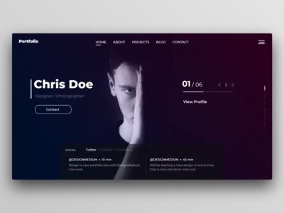 Modern Portfolio Website UI