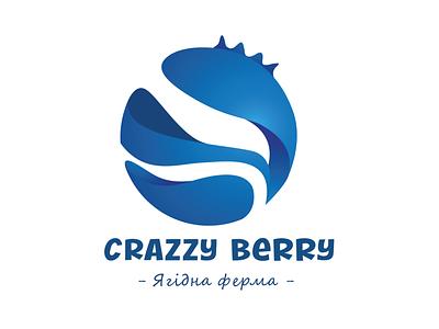 Blueberry farm design blue blueberry branding brand logotype logo