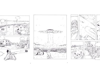 Strangers comic - illustration  2017 sketching