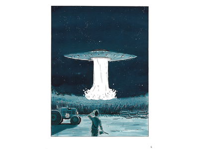 Strangers comic - illustration 2017 sketching ink P4 full
