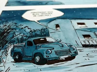 Strangers comic - illustration : Barn Finds 1960 Studebaker