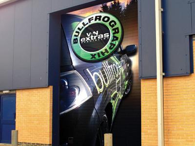 Roller door graphic concept concept graphics vehicle large sticker