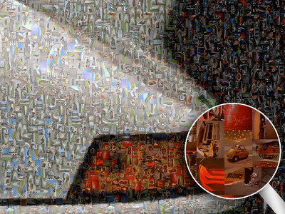 Porsche 911 Carrera RS 2.7 Mosaic Poster 1973 rs 2.7 carrera 911 mosaic poster porsche