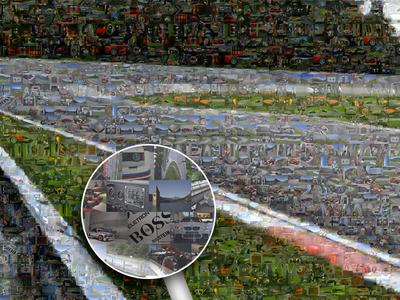 Nurburgring Karussell Mosaic Poster poster mosaic carousel karussell nurburgring