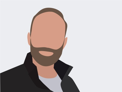 How to create a flat and minimal avatar sketch vector minimalist flat profile avatar