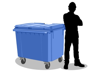1100 litre waste bin illustration vector rubbish waste bin