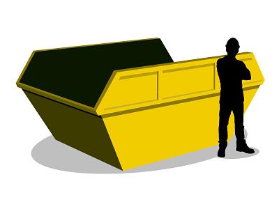 Skip / Waste Container skip container illustration vector rubbish waste bin