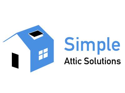 Simple Attic Solutions Logo simple attic branding logo