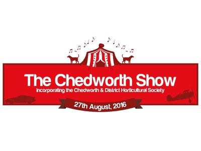 Chedworth Show 2016 horticultural music tent cars planes dogs red branding logo