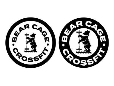 Bear Cage Crossfit icon typography design illustrator graphics branding logo vector