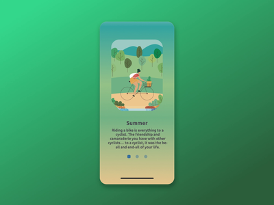 Animated Onboarding Screens mobile app design animation mobile application