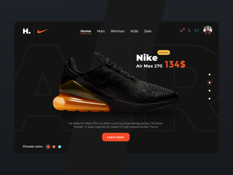 Sneaker shop web development nike web design