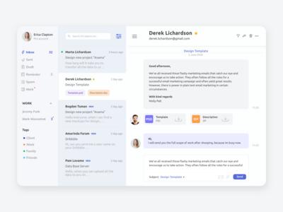 Mail Client e-mail client web development web design