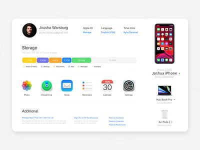 iCloud redesign web design web development