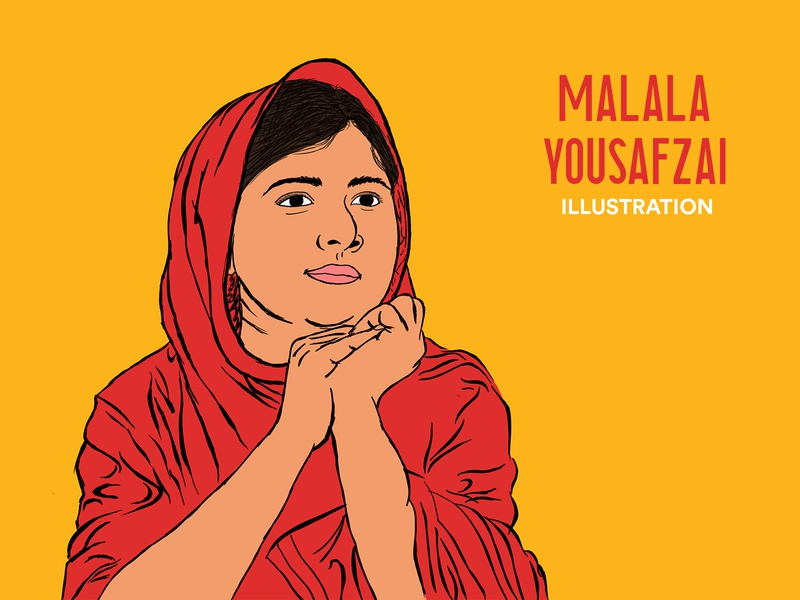 Malala Yousafzai Illustration