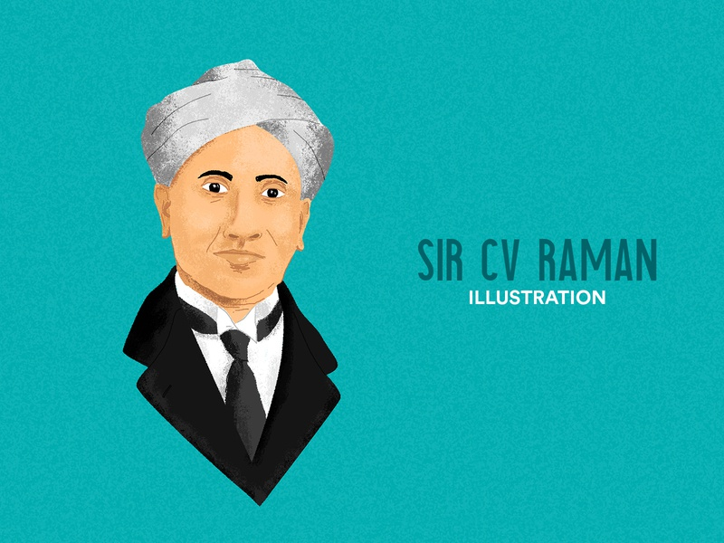 Sir CV Raman Illustration