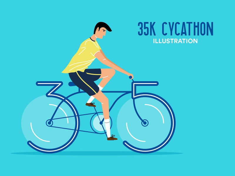 35k Cycathon Illustration